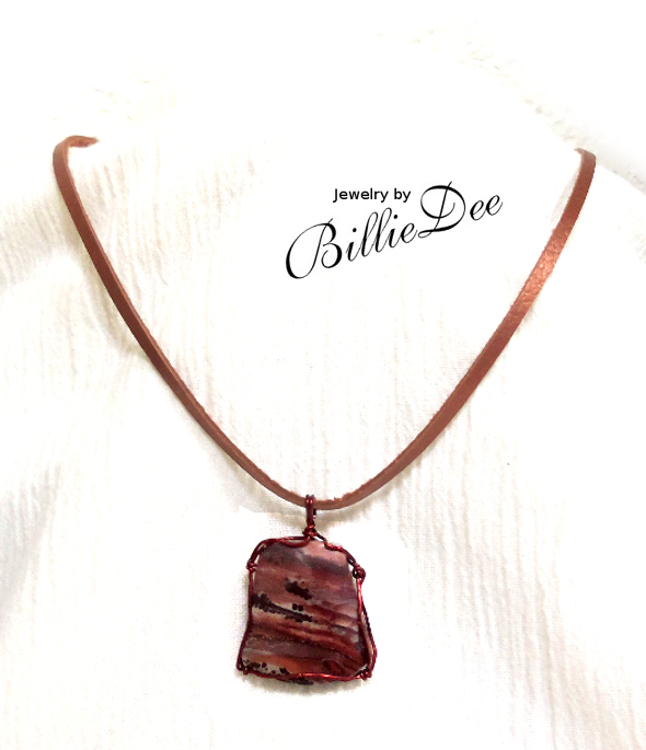 Mimbres Valley Rhyolite Pendant stone in Dark Copper